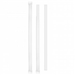 "8.3"" Wrapped Jumbo White Paper Straw 6/500"