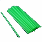 "10"" Unwrapped Plastic Green Straws, 500 box"