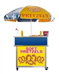 Used, custom built soft pretzel cart.
