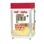 Gold Medal 2660 Deluxe 60 Special Popcorn Machine w/ 6 oz Kettle & Red Dome, 120v