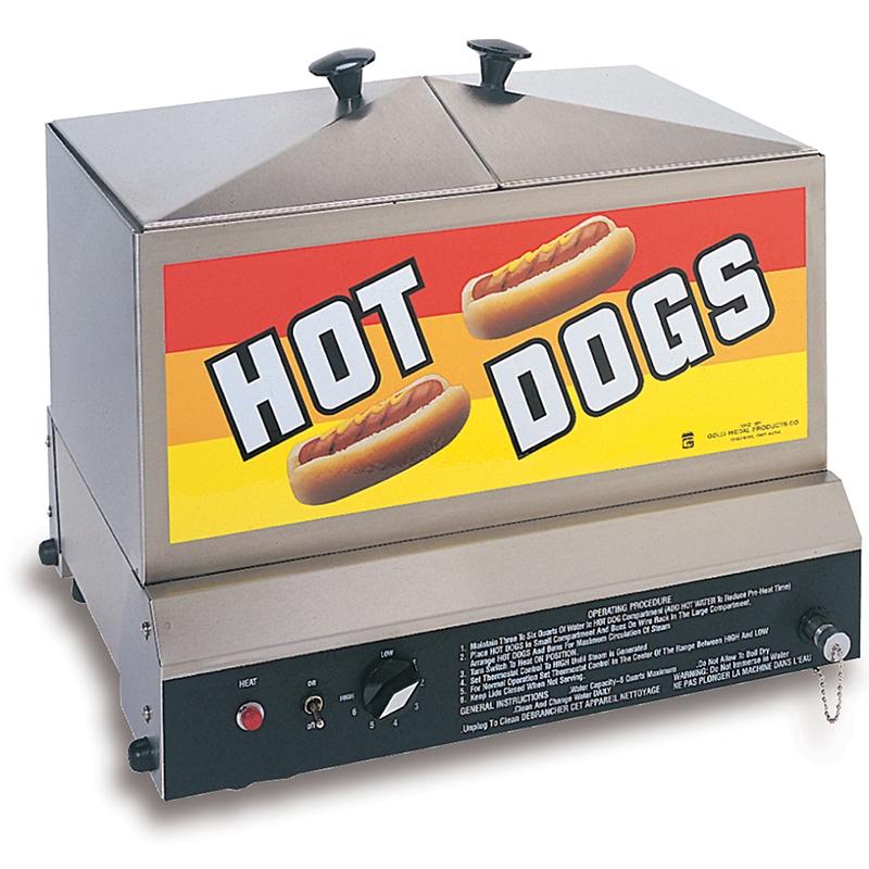 GOLD MEDAL #8012 SUPER STEAMIN DEMON HOT DOG STEAMER