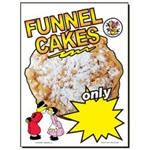 Funnel Cake Static Cling Sign